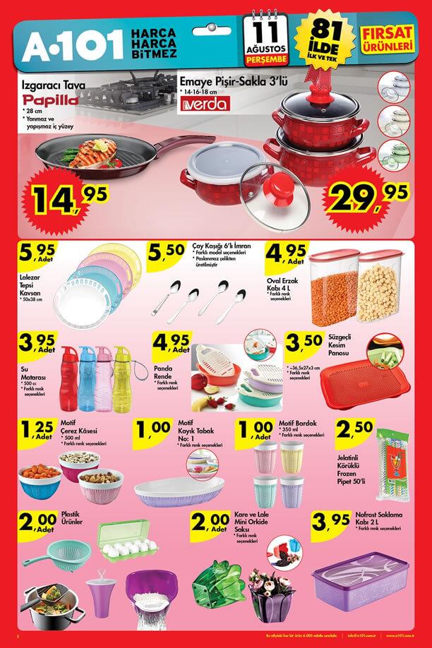 A101 Fırsat Ürünleri 11 Ağustos 2016 Katalogu - Papilla Izgaracı Tava