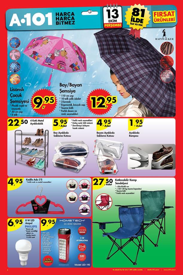 A101 Fırsat Ürünleri 13-19 Ekim 2016 Katalogu - Şemsiye