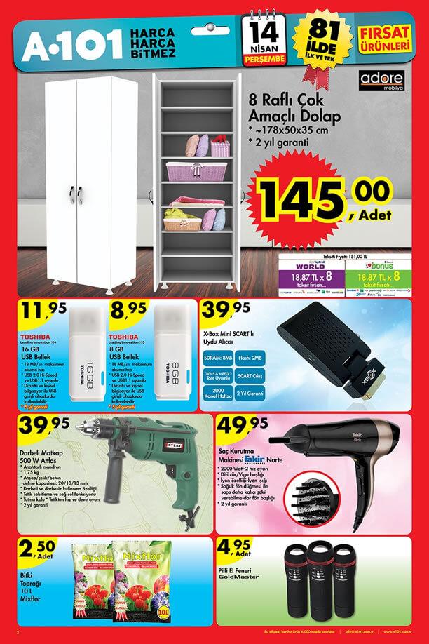 A101 Fırsat Ürünleri 14 Nisan 2016 Katalogu - Çok Amaçlı Dolap