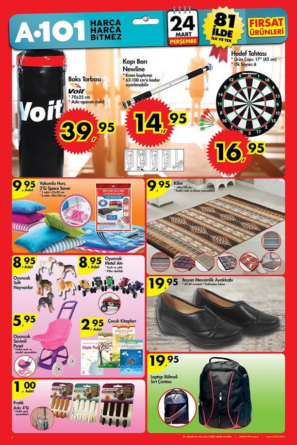 A101 Fırsat Ürünleri 24.03.2016 Katalogu - Voit Boks Torbası