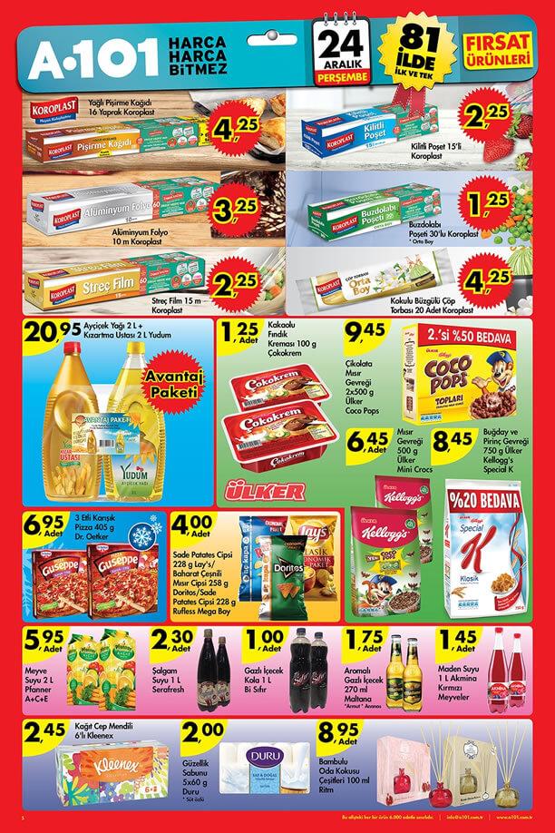A101 Fırsat Ürünleri 24 Aralık 2015 Katalogu - Koroplast
