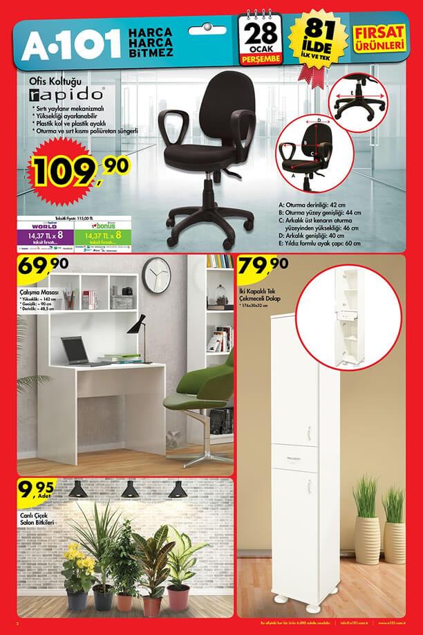 A101 Fırsat Ürünleri 28 Ocak 2016 Katalogu - Rapido Ofis Koltuğu