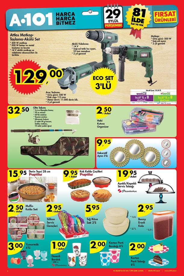 A101 Fırsat Ürünleri 29 Eylül 2016 Katalogu - Olta Takımı
