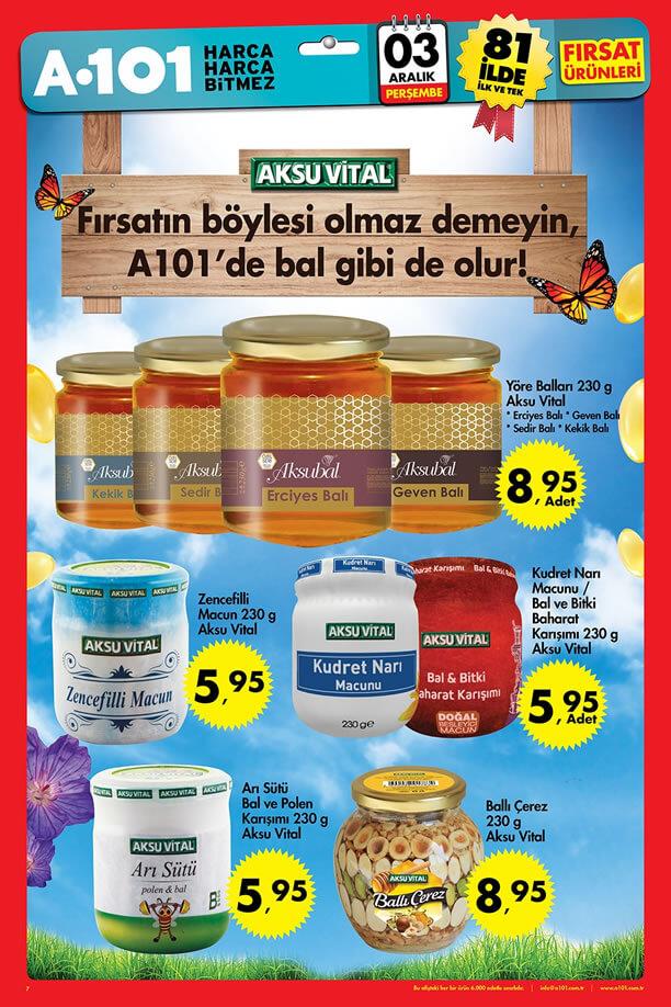 A101 Fırsat Ürünleri 3 Aralık 2015 Broşürü - Aksu Vital