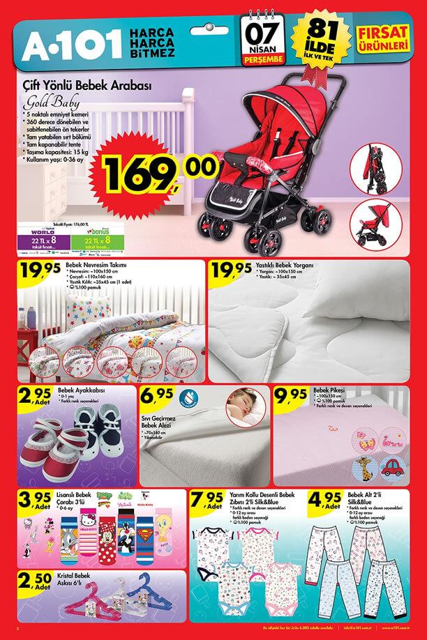 A101 Fırsat Ürünleri 7 Nisan 2016 Katalogu - Gold Baby Bebek Arabası
