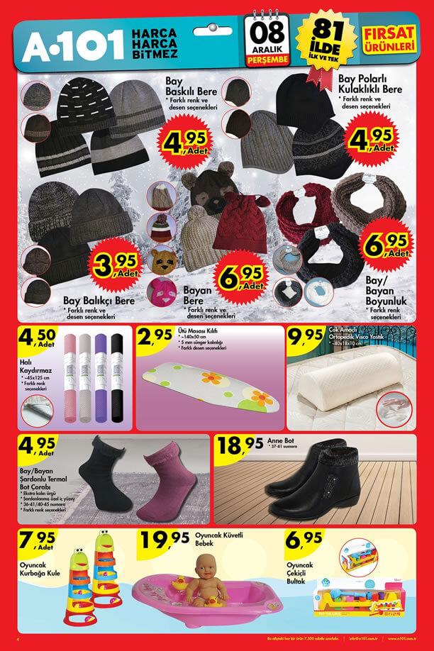 A101 Fırsat Ürünleri 8 Aralık 2016 Katalogu - Anne Bot