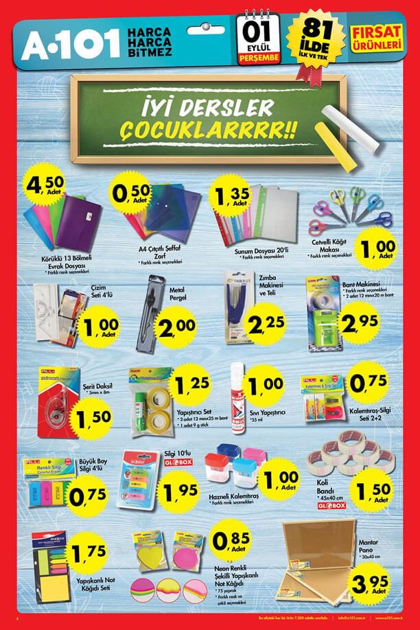 A101 Fırsatları 1 Eylül 2016 Katalogu - Okul Eşyaları