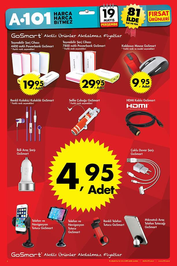 A101 Fırsatları 19 Mayıs 2016 Katalogu - GoSmart Akıllı Ürünler