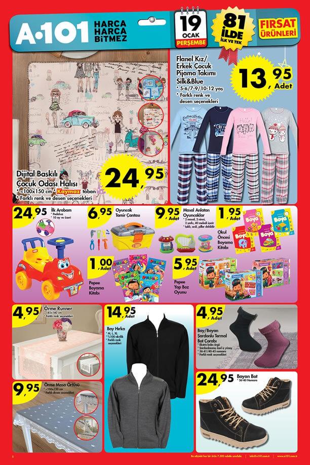 A101 Fırsatları 19 Ocak 2017 Katalogu - Çocuk Odası Halısı