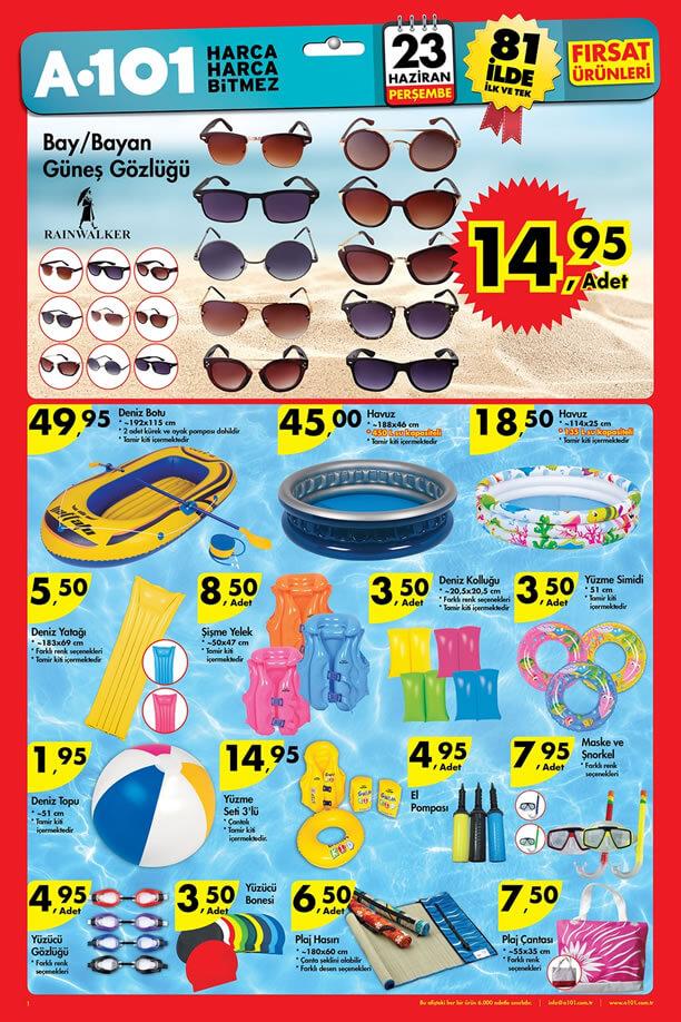 A101 Fırsatları 23-29 Haziran 2016 Katalogu - Güneş Gözlüğü