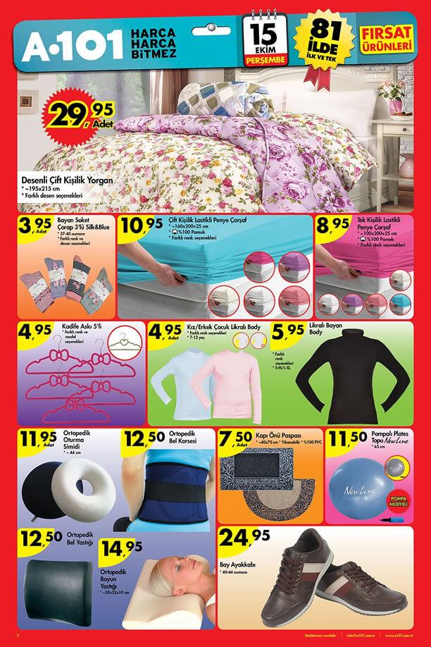 A101 İndirimleri 15 Ekim 2015 Aktüel Ürünler Broşürü - Ortopedik Ürünler
