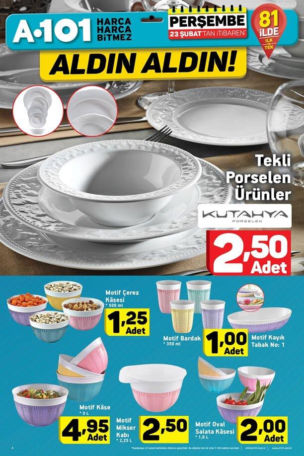 A101 Kampanyaları 23 Şubat 2017 Katalogu - Kütahya Porselen