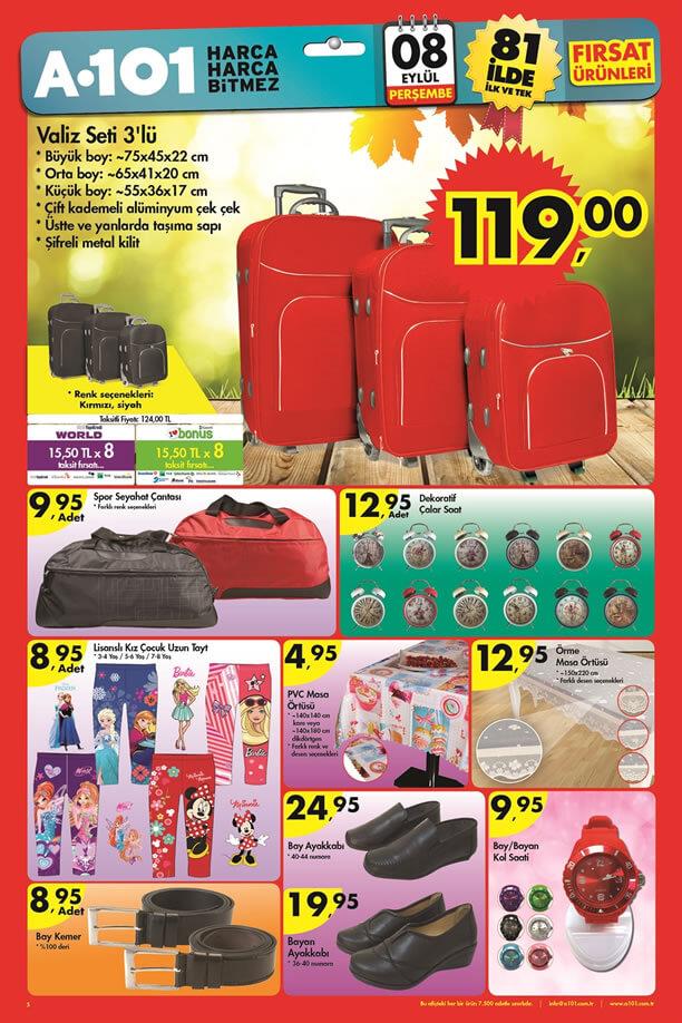 A101 Market 08.09.2016 Perşembe Katalogu - Valiz Seti