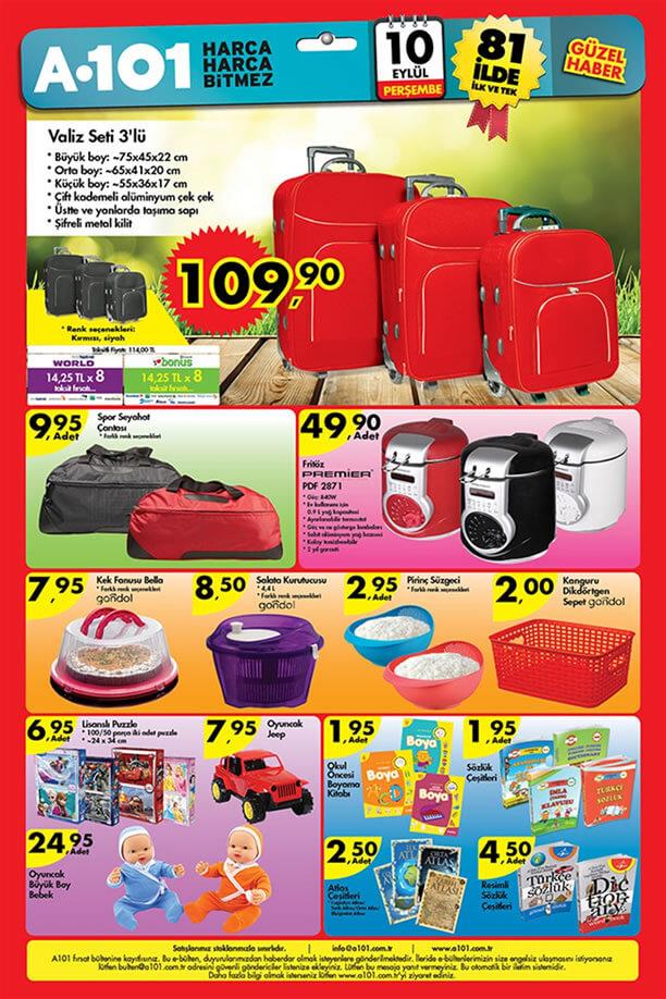 A101 Market 10 Eylül 2015 Aktüel Ürünler - Valiz Seti