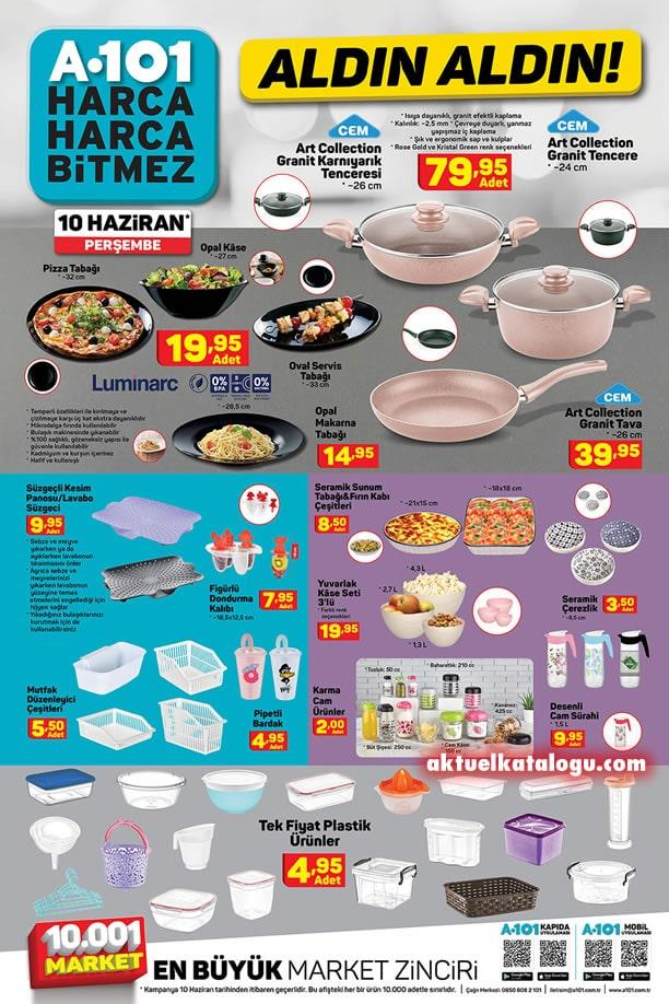 A101 Market 10 Haziran 2021 Kataloğu - Mutfak Ürünleri