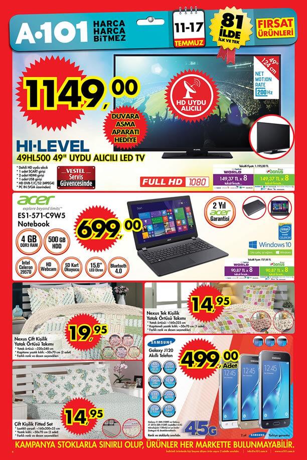 A101 Market 11-17 Temmuz 2016 Fırsatları - Samsung Galaxy J120