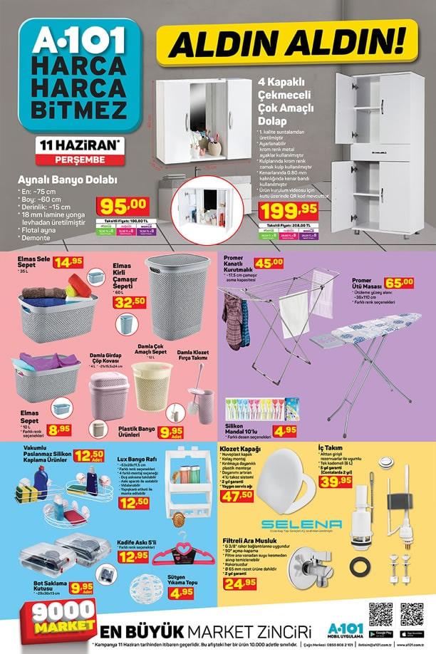 A101 Market 11 Haziran 2020 Kataloğu - Aynalı Banyo Dolabı