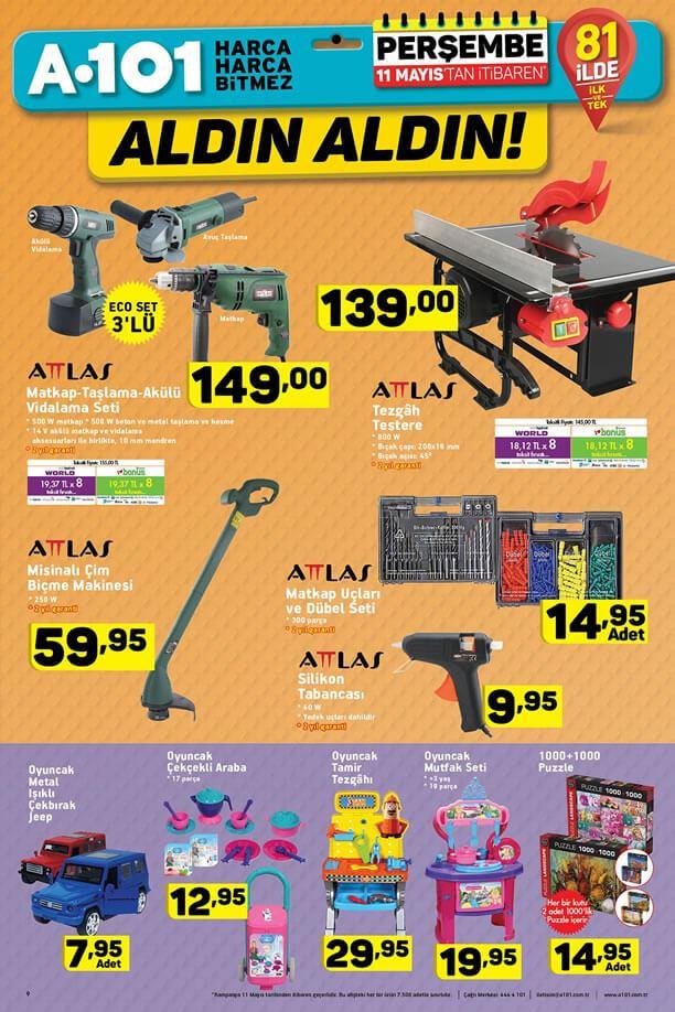 A101 Market 11 Mayıs 2017 Katalogu - Attlas Tezgah Testere