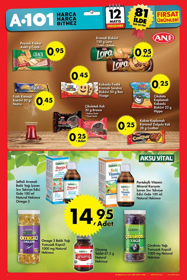 A101 Market 12 Mayıs 2016 İndirim Katalogu - Aksuvital