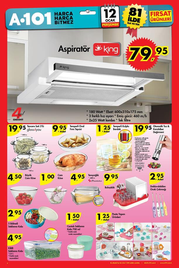 A101 Market 12 Ocak 2017 Katalogu - King Aspiratör