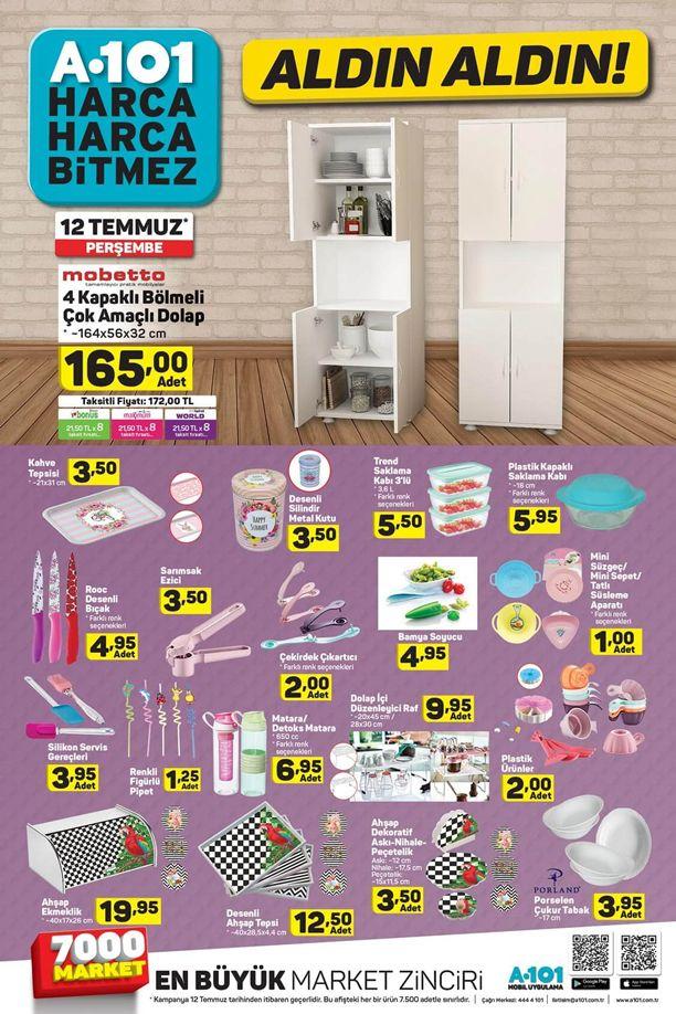 A101 Market 12 Temmuz 2018 Katalogu - 4 Kapaklı Çok Amaçlı Dolap