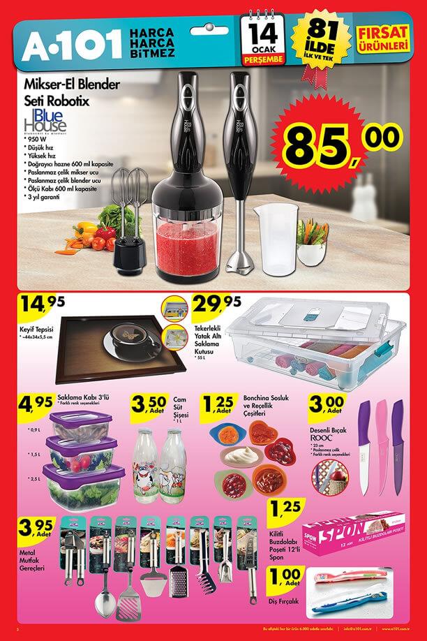 A101 Market 14.01.2016 Katalogu - Blue House Robotix Mikser - El Blender Seti