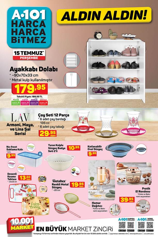 A101 Market 15 Temmuz 2021 Kataloğu - Ayakkabı Dolabı