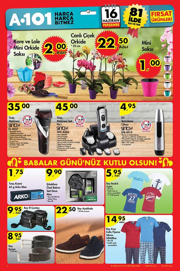 A101 Market 16 Haziran 2016 Katalogu - Sinbo Tıraş Makinesi Seti