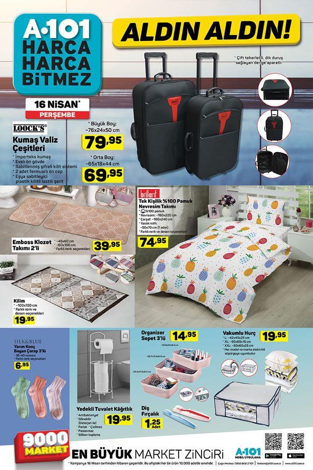A101 Market 16 Nisan 2020 Perşembe Kataloğu - Ev Tekstili Ürünleri
