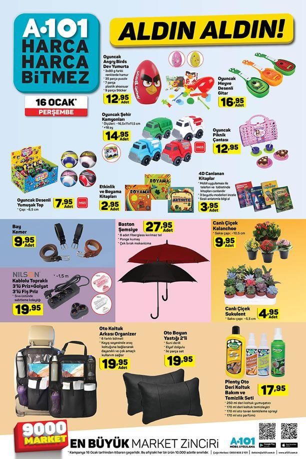 A101 Market 16 Ocak 2020 Aktüel Kataloğu