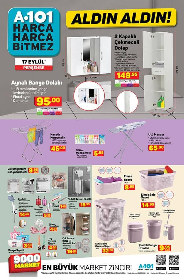 A101 Market 17 Eylül Kataloğu - Aynalı Banyo Dolabı