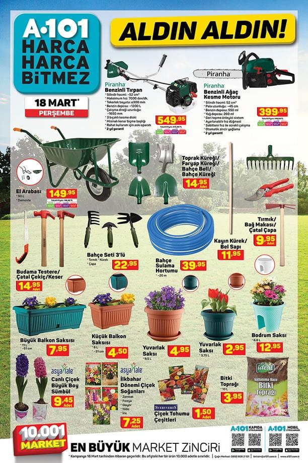 A101 Market 18 Mart 2021 Aktüel Kataloğu - Bahçe ve Çiçek