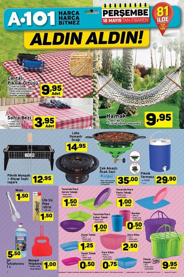 A101 Market 18 Mayıs 2017 Katalogu - Hamak