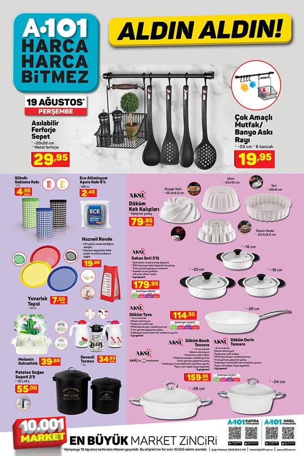 A101 Market 19 Ağustos 2021 Kataloğu - Aksu Döküm Kek Kalıpları