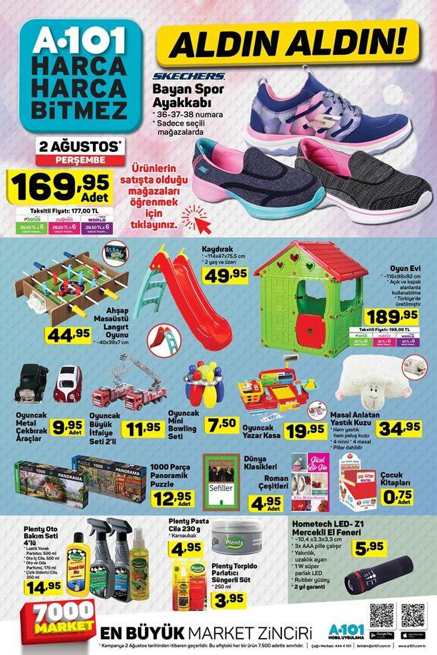 A101 Market 2 Ağustos 2018 Kataloğu - Oyun Evi ve Kaydırak