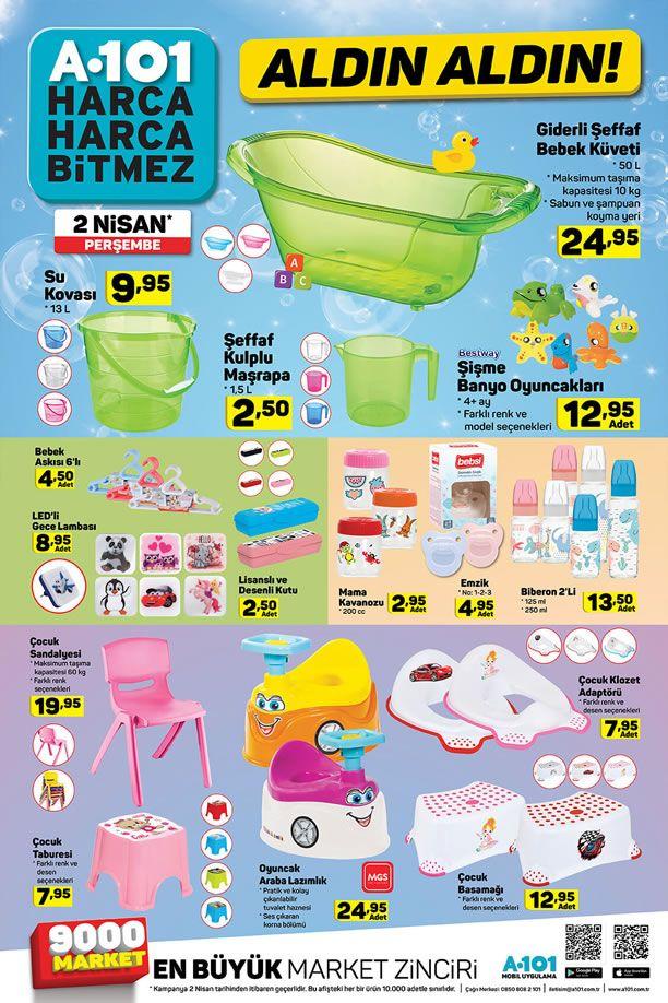 A101 Market 2 Nisan 2020 Perşembe Fırsatları - Bebek Malzemeleri