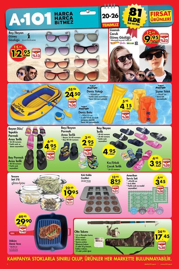 A101 Market 20-26 Temmuz 2015 Aktüel Ürünler Katalogu