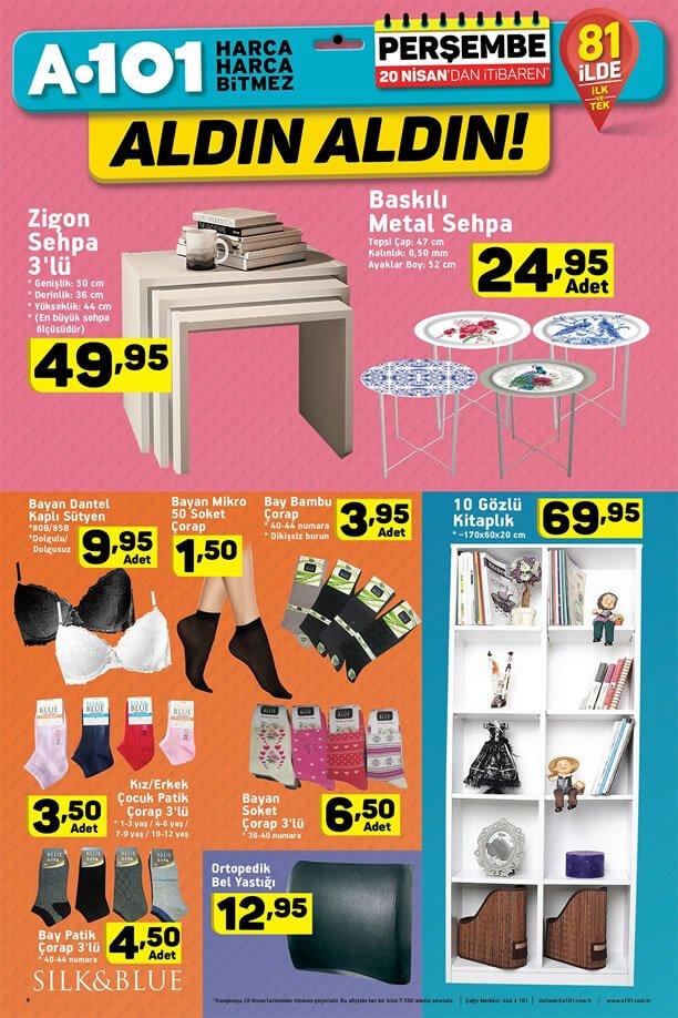 A101 Market 20 Nisan 2017 Katalogu - Zigon Sehpa