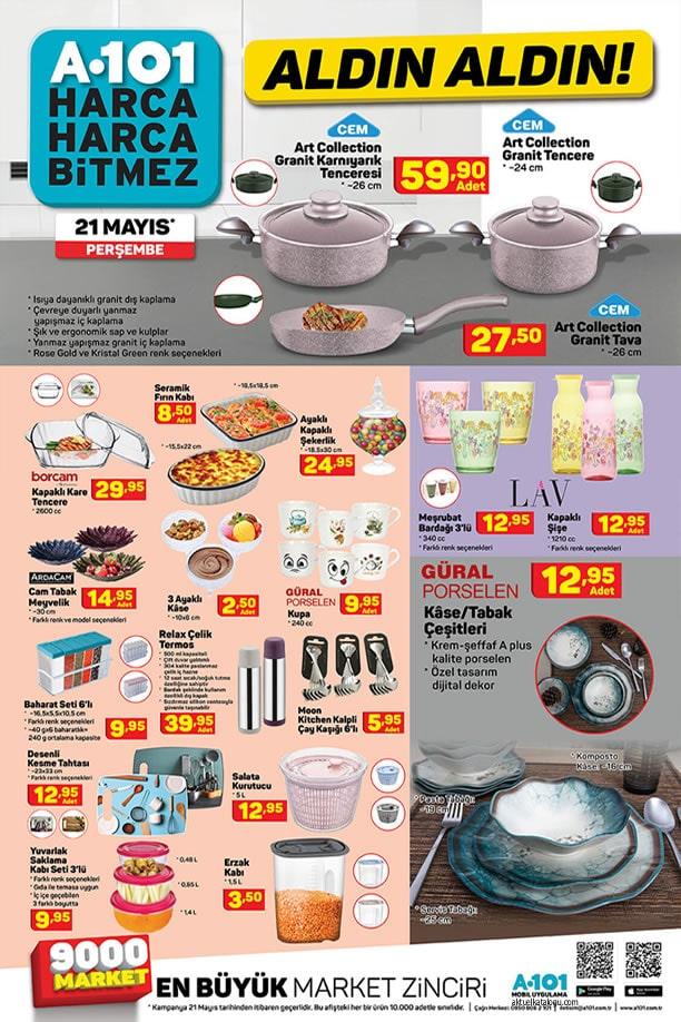 A101 Market 21 Mayıs Perşembe Kataloğu - Mutfak Ürünleri