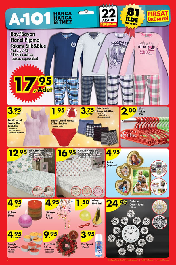A101 Market 22 Aralık 2016 Katalogu - Ferforje Duvar Saati