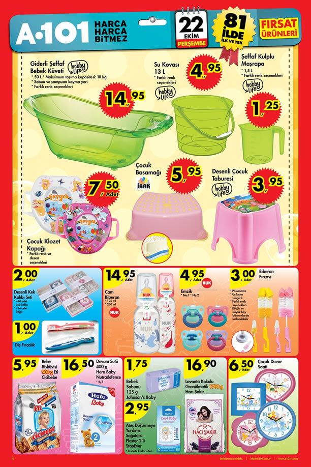 A101 Market 22 Ekim 2015 Broşürü - Bebek Ürünleri