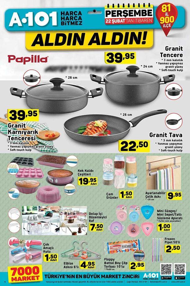 A101 Market 22 Şubat 2018 Katalogu - Papilla Granit Tencere