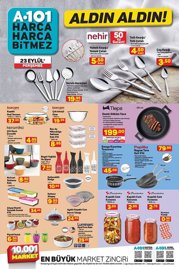 A101 Market 23 Eylül 2021 Kataloğu - Tleps Demir Döküm Tava
