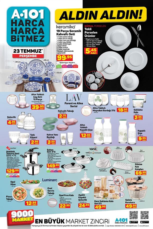 A101 Market 23 Temmuz 2020 Kataloğu - Seramik Kahvaltı Seti