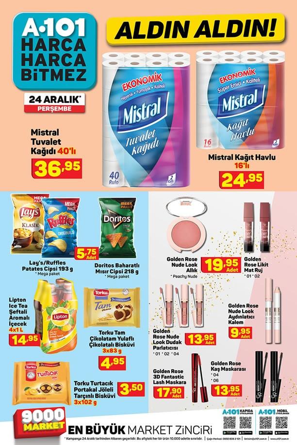 A101 Market 24 Aralık 2020 İndirimli Ürünler Broşürü