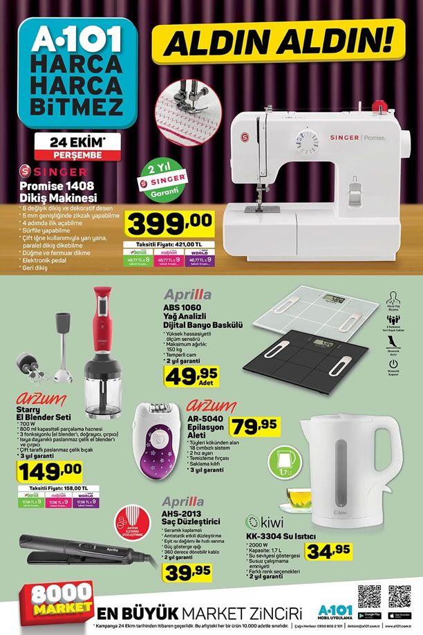 A101 Market 24 Ekim 2019 Kataloğu - Singer Promise Dikiş Makinesi