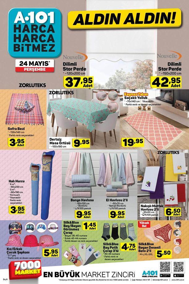 A101 Market 24 Mayıs 2018 Katalogu - Dilimli Stor Perde