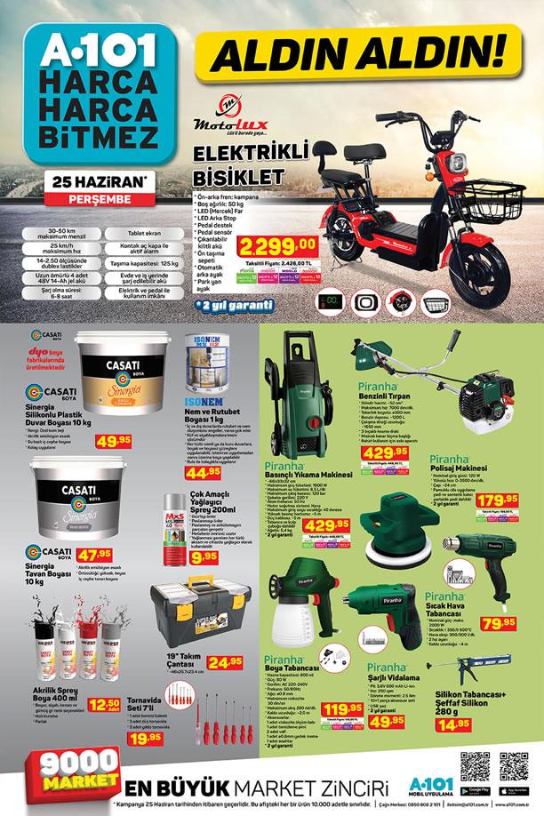 A101 Market 25 Haziran 2020 Kataloğu - Elektrikli Bisiklet