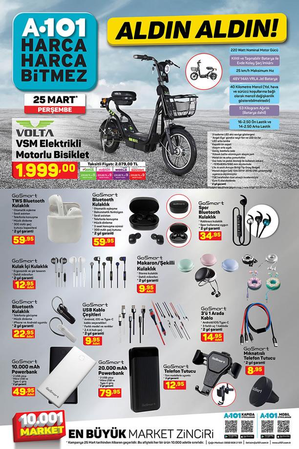 A101 Market 25 Mart 2021 Kataloğu - Volta Elektrikli Motorlu Bisiklet