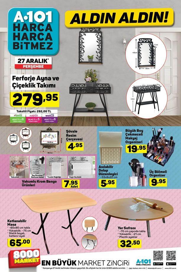 A101 Market 27.12.2018 Aktüel Kataloğu - Ferforje Ayna ve Çiçeklik